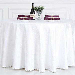 Restaurant le linge de table ronde de tissu de polyester/capot table