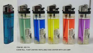 Isqueiros de pedra recarregáveis Acendedor de gás com luz de LED, Acendedor de Baida (BD-Y16)