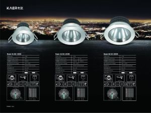 5W LEDの軽く調節可能な天井によって埋め込まれる穂軸LED Downlight