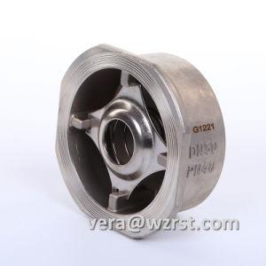 Valvola di ritenuta del metallo Pn40 della cialda dura SS304/SS316 della sede