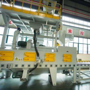 Китай автоматический роликовый конвейер типа туннеля дробеструйная очистка оборудования Mayflay горячая продажа низкая цена высокое качество гранита дробеструйная очистка машины
