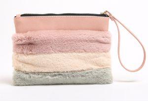 2018 Peles com pêlo de PU clássico da Moda Cosmetic compõem a Zipper Bag comprar on-line casos de maquiagem barato grande espelho casos