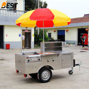 200cm de long en acier inoxydable Panier Hot Dog Food chariots mobiles