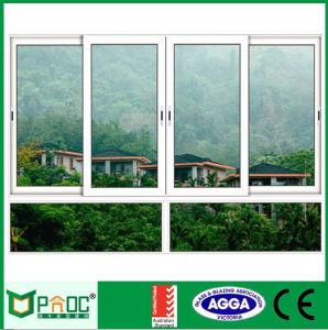 Bureau de l'intérieur de vitre coulissante en verre trempé avec l'écran de moustiques