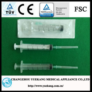 sterile Wegwerfplastikspritze 3-Parts mit Ce&ISO genehmigt