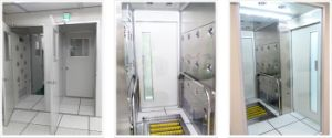 Edelstahl-Luft-Dusche-System für sauberen Raum