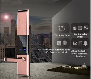 Bloqueio de segurança inteligentes de segurança com as impressões digitais/Senha/cartão de identificação de puxador exteriorda Anti-Thef