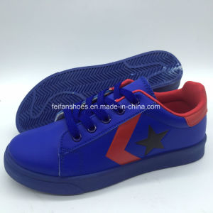 Premium Soft Unisex superior sintética estilo informal Skatboard zapatos (YJ18510-16)