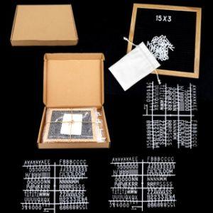 scheda variabile della lettera del feltro del nero di legno multifunzionale del blocco per grafici dell'annata 10X10