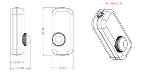 Lampe de table de bricolage en ligne de l'Interrupteur gradateur rotatif