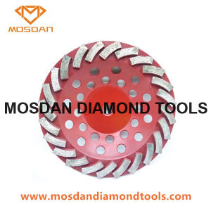 7 Polegadas Turbo Metal Diamante concretas Copa Moagem discos de roda