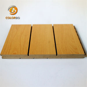Bureau de performances acoustiques du bois en bois rainuré Panneau acoustique