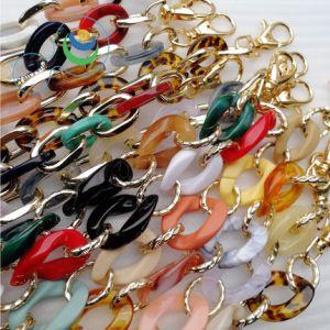 Mode Liaison bague multicolore de sacs en plastique de la poignée de la chaîne d'accessoires du vêtement