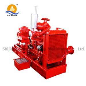 Двойной всасывающий пожарных центробежный водяной насос дизельного двигателя