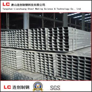 50mmx100mm tubo de acero rectangular negra para la construcción de la estructura