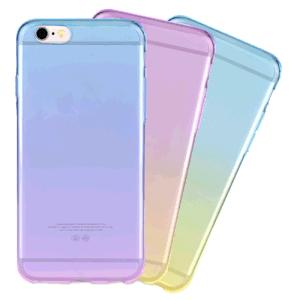 Dégradé de couleurs Double TPU Étui pour iPhone 6