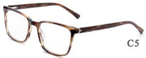 Acetaat Eyewear van de Goederen van de manier gebruikte de Online Klaar Bril van de Glazen van de Frames van de Voorraad van de Superieure Kwaliteit wijd de Klaar Optische met de Decoratie van het Metaal