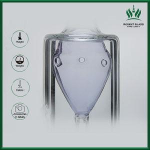 Kessel-Form-transparentes Farben-Rohr-Glasrohr Glassbong Ölplattform-Glaswasser-Rohr