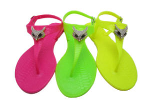 2014 Nouvelle mode patin/PVC sandale Jelly Chaussures pour dame HD01