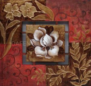 Pintura al Óleo de flores decorativas (177-0)