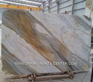 Blanc poli, dalle de marbre et granit noir pour l'objet tombstone