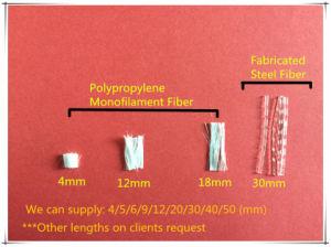 China Fornecedores utilização concreta de fibra de PP