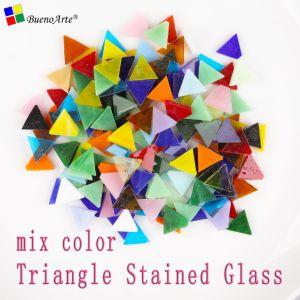 Triángulo las vidrieras de Gaza, mosaico de colores mezclados aficiones, Material de bricolaje Proveedores, piezas sueltas Mini Tiffany