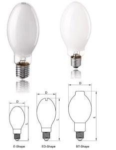 Lâmpadas fluorescentes de alta pressão Lâmpadas de vapor de mercúrio de baixo preço e boa qualidade de 80W/125W/175W/250W/400W/1000W