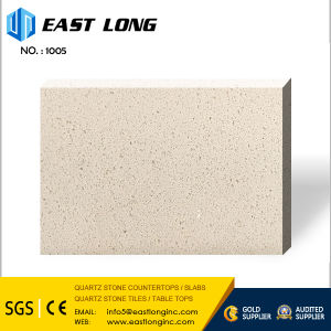 Cheap Pure blanc/gris/beige dalle de pierre pour la vanité de quartz haut/panneau mural/carrelage de sol avec la surface polie