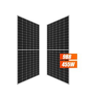 Половина сотовый солнечной энергии фотоэлектрических солнечных панелей 450 Вт, 455 Вт, 460 Вт, 500 Вт
