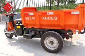 Triciclo eléctrico/3 Rueda triciclo motocicleta con cubo de basura/cabina triciclo en el mercado para el Perú