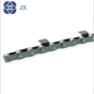 Двойной шаг цепи транспортера с навесным оборудованием