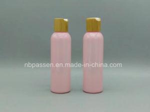 Bamboo Dics Press Cap (PPC-BS-021)のピンクのPet Plastic Bottle