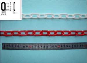 La barrera de seguridad de plástico de seguridad del lugar de trabajo de la cadena cadena de eslabones de plástico