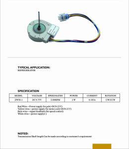 Motor dc sin escobillas de 12V para aire acondicionado/pecho de hielo