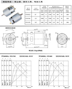 12/24V eléctrico de alta potencia de motor de imán permanente para la máquina eléctrica/Power Tool/Cepillo dental eléctrico con EMC