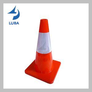Naranja la construcción de carreteras de la seguridad del tráfico de PVC de estacionamiento cono