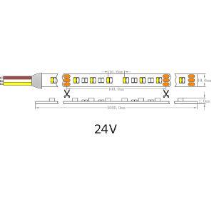 Indicatore luminoso di striscia impermeabile del Ce IP65 Osram3014 2700K~6500K 120LEDs/M LED dell'UL
