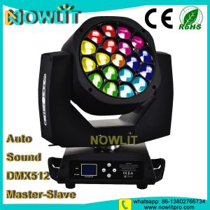 19PCS 15W RGBW LEDの段階の移動ヘッド洗浄の照明