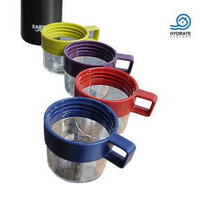 El deporte de acero inoxidable de doble pared del vaso de agua con una taza
