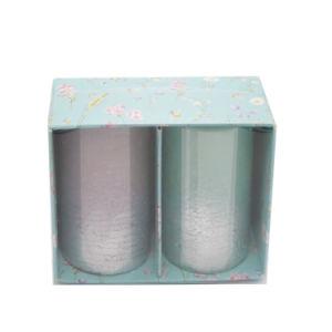 Set des 2 Farben-Änderungs-Kerze-Pfostens im Geschenk-Kasten für Hauptdekor