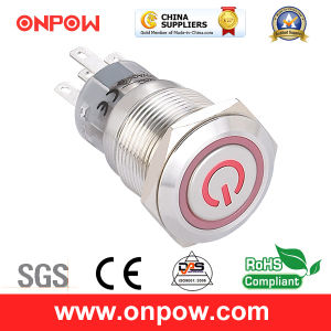Onpow Metal Push Button Switch (LAS1-AGQ-11ET/R/12V/S、19mmのセリウム、UL、CCC、RoHS)