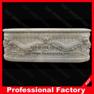 Bathroomのための磨かれたWhite Marble Stone Bathtub