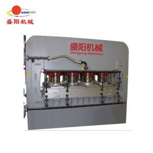 Heißes Presse-Melamin-lamellierende Maschine