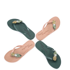 Les femmes d'été de la plage de diamant pantoufles
