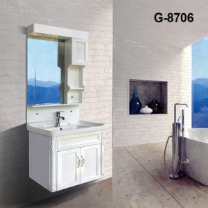 Chinês Estilo Antigo Carbinet PVC Defina a cor branca para casa de banho