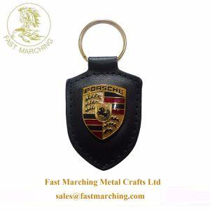 Couro Monogrammed personalizado Mini Carro Keychains Metal de logotipo para homens