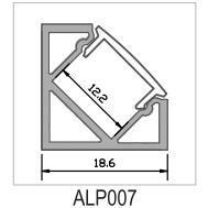 LEIDEN van het Aluminium van de hoek Profiel voor 1012mm Flexibele LEIDENE van de Breedte Strook