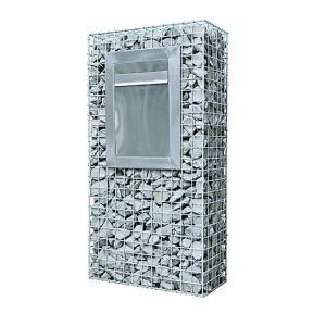 高品質のGalfanコーティングによって溶接されるGabionのワイヤーは石の壁をおりに入れる