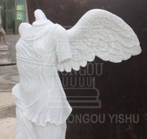 op Beeldhouwwerk van het Standbeeld van het Graniet van de Steen van de Verkoop het Marmeren van de Godin van Overwinning